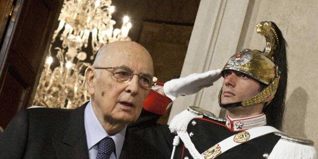 Napolitano rettet Italiens Würde