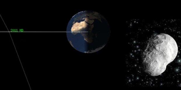 Asteroid rast gefährlich nahe an Erde vorbei