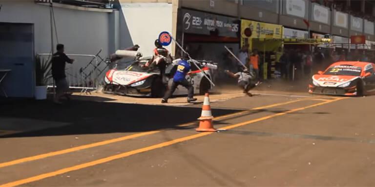 Nascar-Drama: Fahrer fährt Mechaniker um