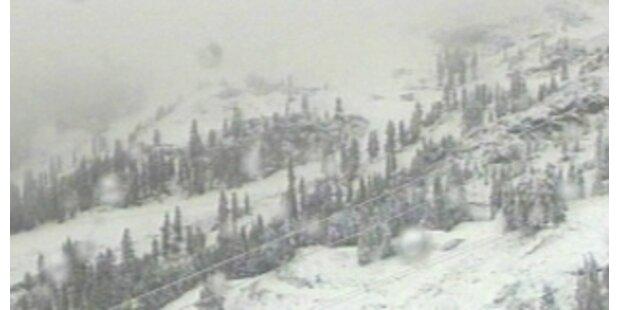 Wintereinbruch auf Kärntner und Tiroler Bergen