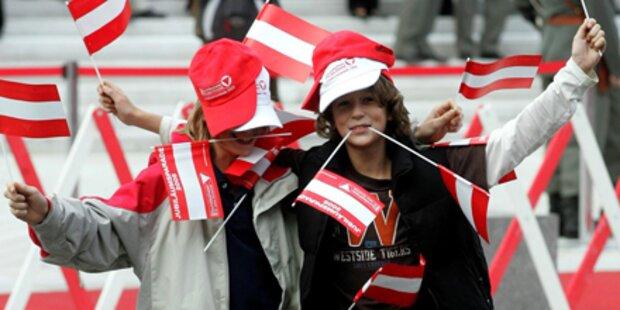Jeder 2. ist stolz auf Österreich