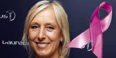 Martina Navratilova Pink Ribbon