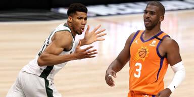 NBA Finale Bucks gegen Suns