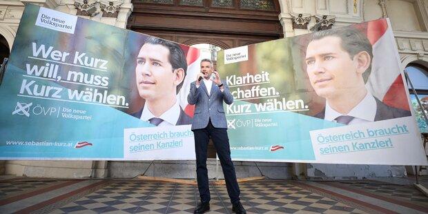 ÖVP ruft jetzt Kanzler-Wahl aus
