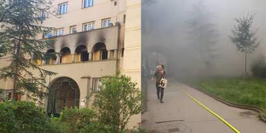 Gemeindebauwohnung in Wien-Favoriten komplett ausgebrannt