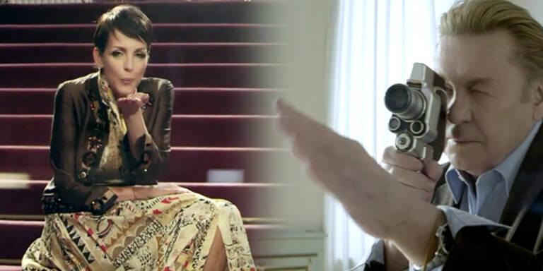 Nena dreht Videoclip mit Helmut Berger
