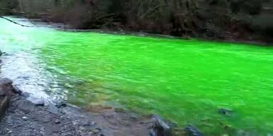 Mysteriös: Fluss in Kanada wird neongrün