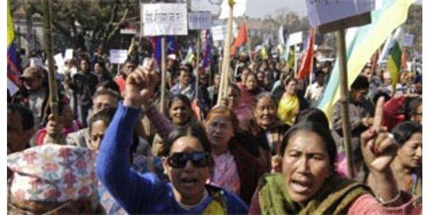 Kundgebung für die Monarchie in Nepal