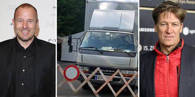 Heino Ferch, Dreharbeiten in Grinzing, Tobias Moretti