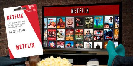 Guthabenkarten für Netflix erhältlich