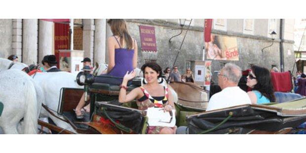 Paparazzi jagen Anna Netrebko durch Salzburg