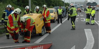 Unfall auf der A2: Über eine Stunde Zeitverlust