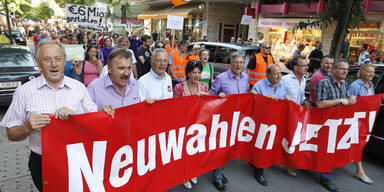 Neuwahl-Demo in Kärnten