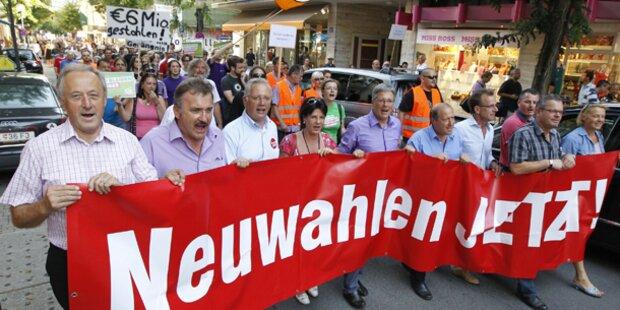 Wieder Demo für Neuwahlen in Kärnten