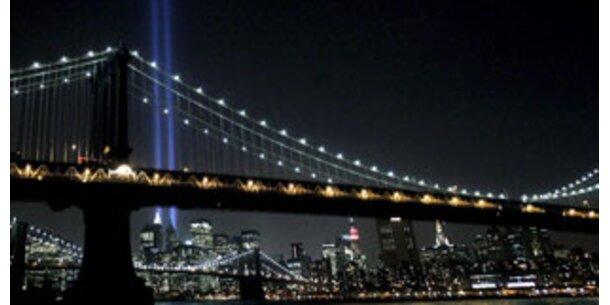 Lichtsäulen strahlten in New York