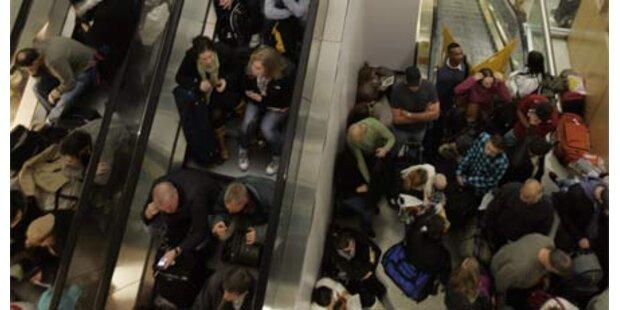 Sicherheitspanne in Terminal von Newark