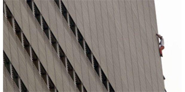 Fassadenkletterer protestierten für Klimaschutz