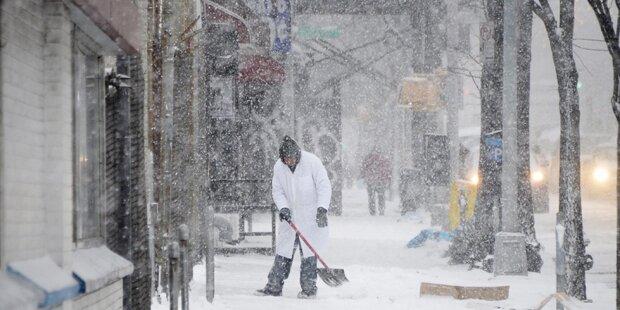Schneesturm bedroht New York
