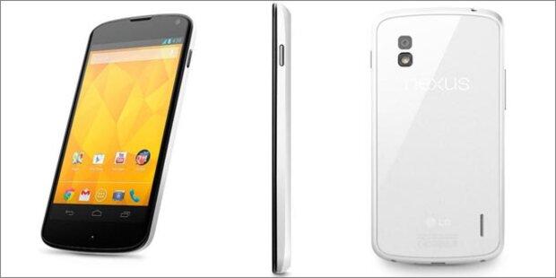 Weißes Nexus 4 offiziell vorgestellt