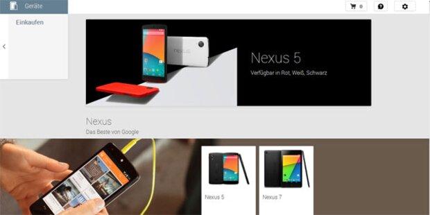 Google Nexus 5 und 7 in Österreich erhältlich