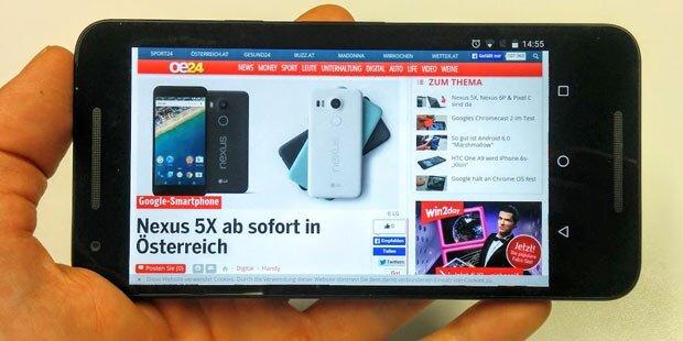 Neues Nexus 5X im großen oe24.at-Test