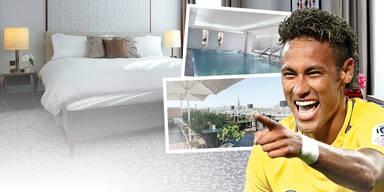 So luxuriös wohnt Neymar