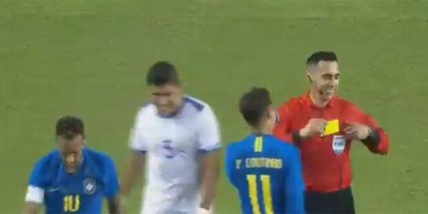 Schiri lacht Neymar nach Schwalbe aus