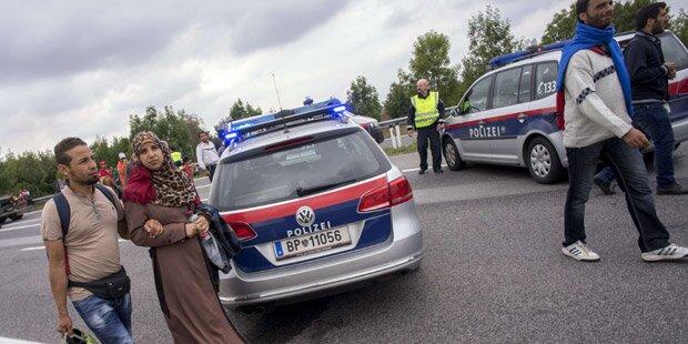 Polizei sperrte Grenzübergang bei Nickelsdorf