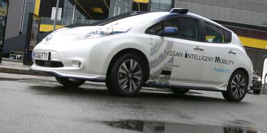 Selbstfahrender Nissan in London getestet