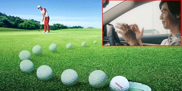 Nissan-Technik befördert jeden Golfball ins Loch
