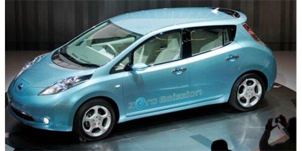 """Nissan präsentiert Elektroauto """"Leaf"""""""