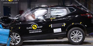 Nissan Qashqai trumpft beim Crashtest auf