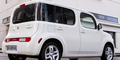 Mit dem asymmetrisch gestalteten Heck fällt der Cube auf alle Fälle auf. Bild: Nissan