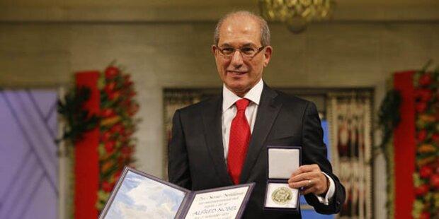 Friedensnobelpreis an Chemiewaffenkontrollore