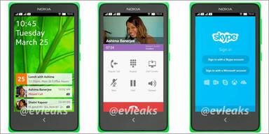Foto zeigt Nokias Android-Smartphone