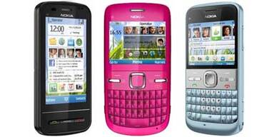 Drei neue Web 2.0-Handys von Nokia