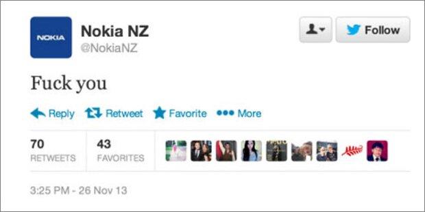 Nokia schockiert Fans mit F*** You-Tweet