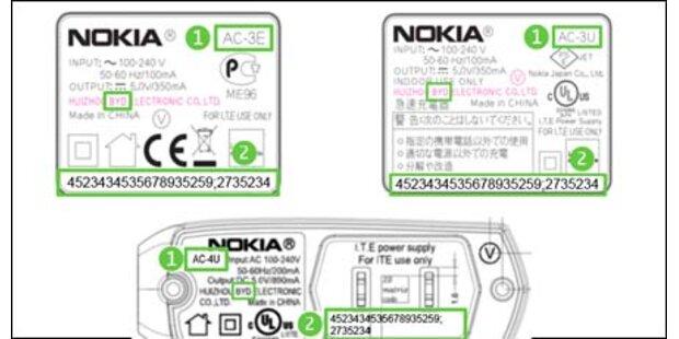 Nokia ruft 14. Mio. Ladegeräte zurück
