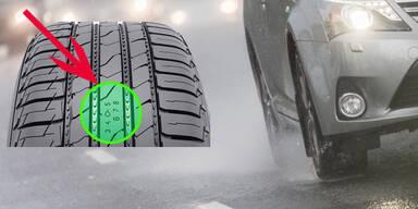 Genial: Reifen warnt vor Aquaplaning