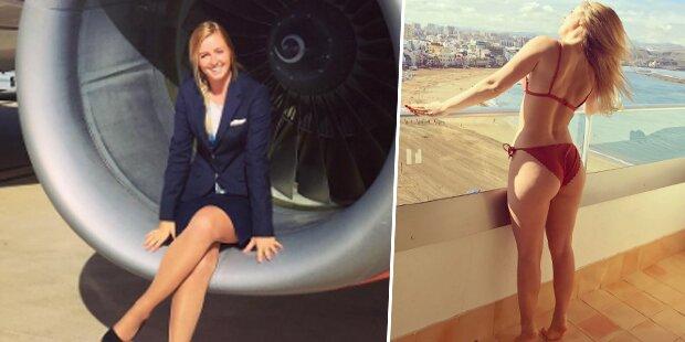 Sie ist die heißeste Stewardess der Welt