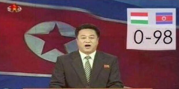 Nordkorea macht aus einem 1:5 ein 98:0