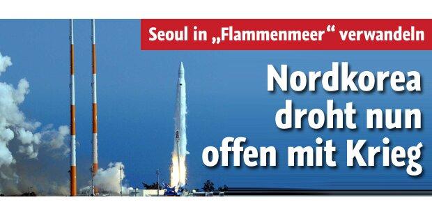 Nordkorea droht nun offen mit Krieg