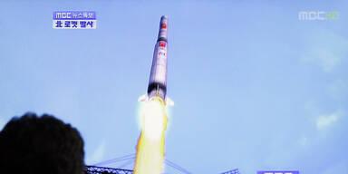 Nordkoreas Rakete ins Meer gestürzt