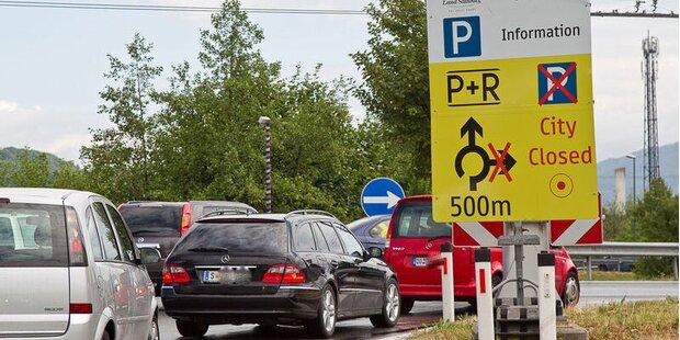 Verkehrschaos in Salzburg