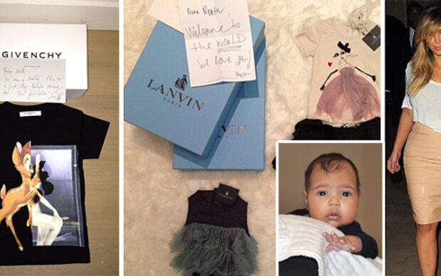 Kims Baby wird von Luxus-Labels umgarnt