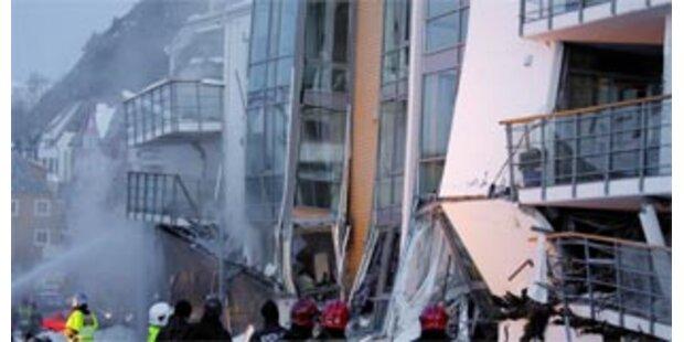 Wohnblock in Norwegen eingestürzt