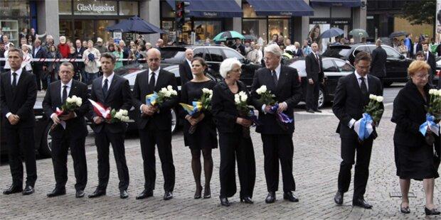 Norwegen gedenkt der Anschlagsopfer