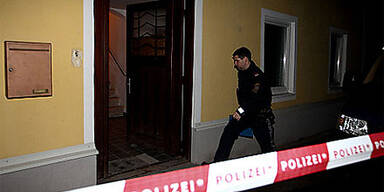 Polizei am Tatort in Pabing bei Nussdorf im Flachgau