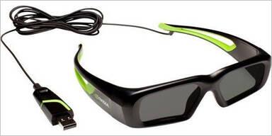 Nvidia stellt Shutter-Brille mit Kabel vor