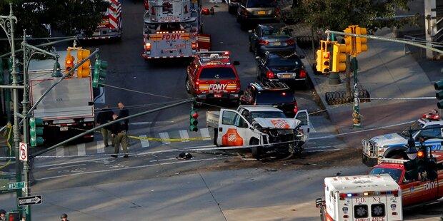 New York: Terror-Anschlag mit Pick-up-Truck